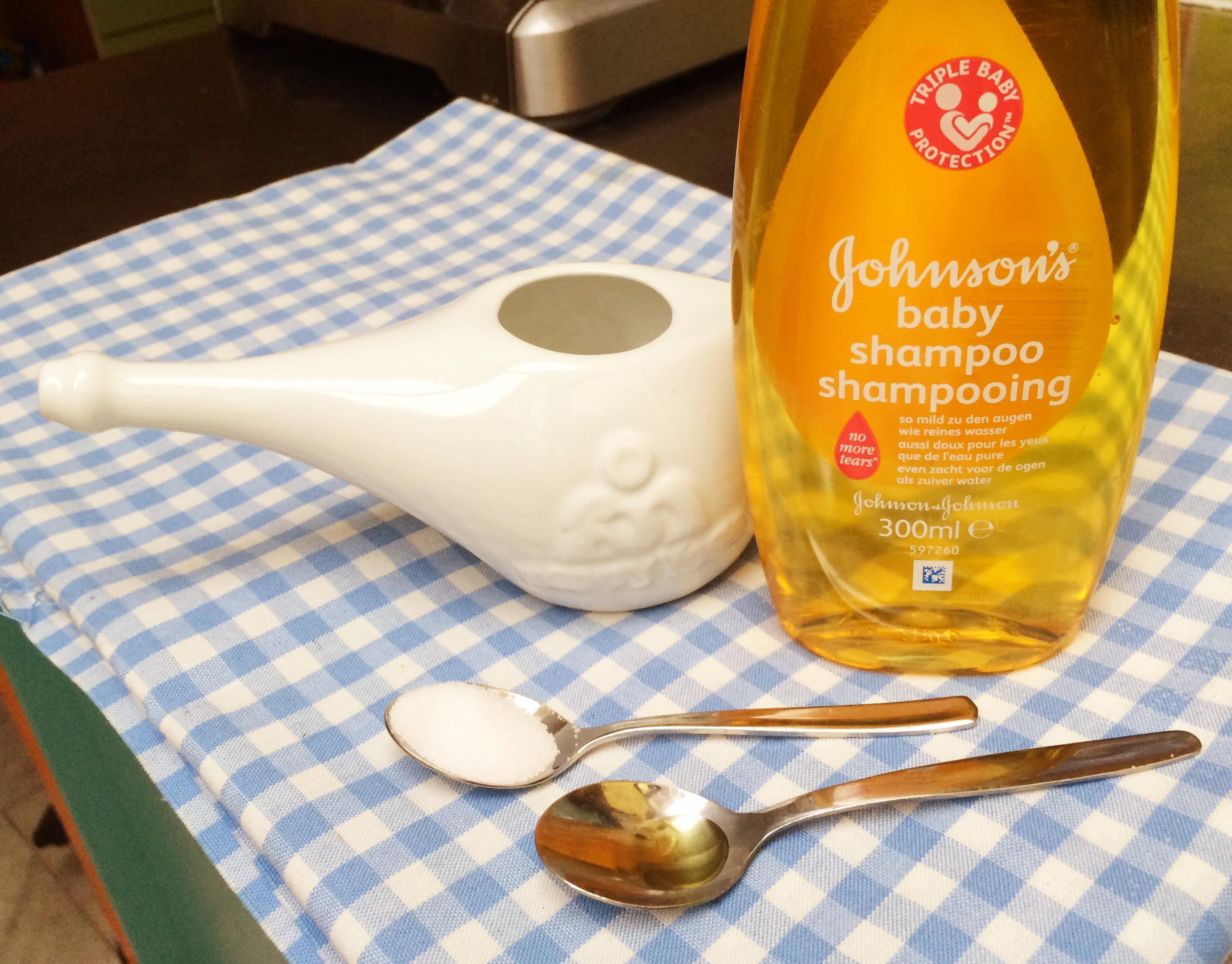 Babyshampoo bij holten ontsteking?!