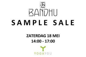 bandhu sample sale bij Yoga You in Zwolle