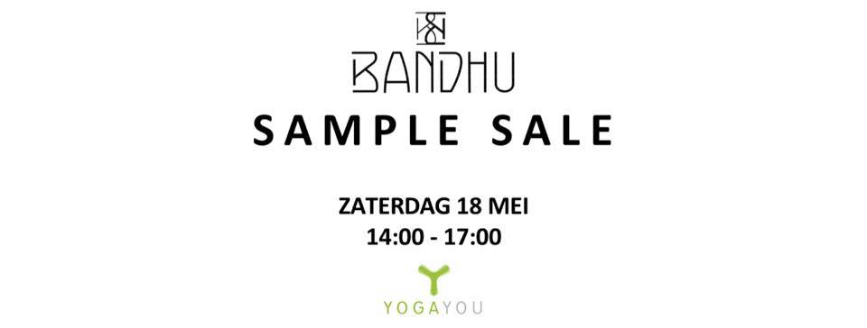 bandhu sample sale bij Yoga You in Zwolle