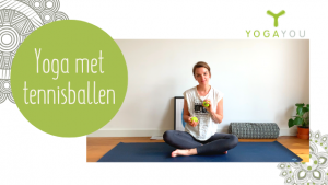 Rustige yoga met tennisballen met Berber