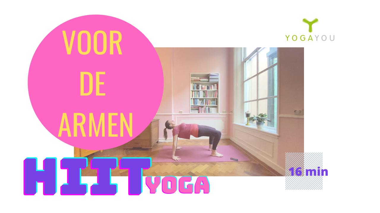 hiit yoga voor de armen