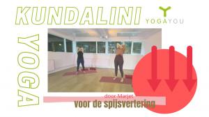 Kundalini Yoga voor de spijsvertering door Marjet van der Linde