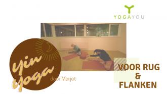 yin yoga voor de flanken en de rug door Marjet van der Linde