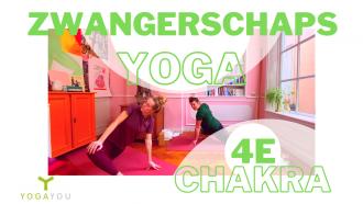 zwangerschaps yoga voor het 4e chakra