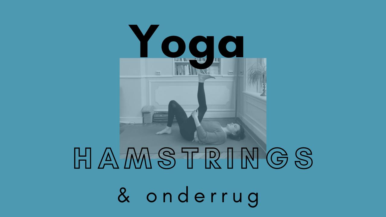 yoga voor de hamstrings en onderrug