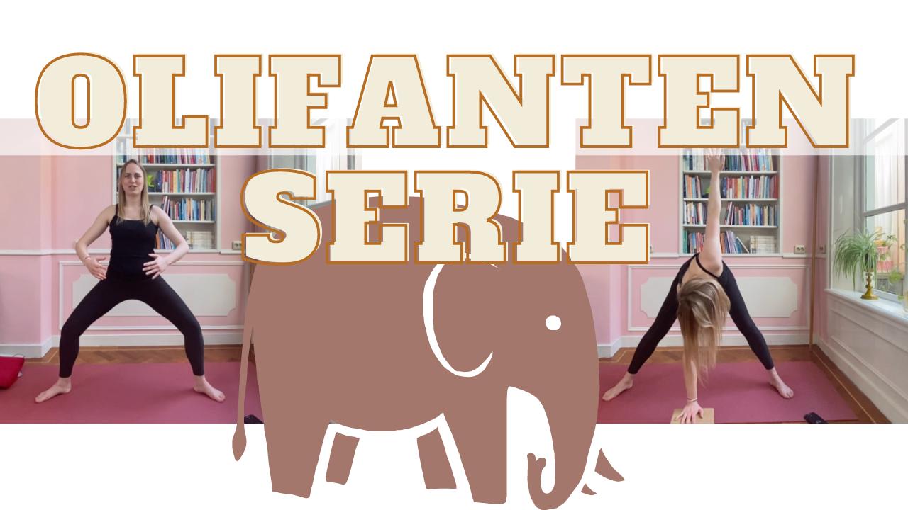 olifanten flow yoga serie door lisa yoga you online