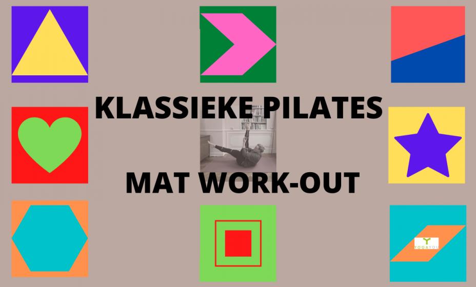 klassieke basis Pilates les mat work-out